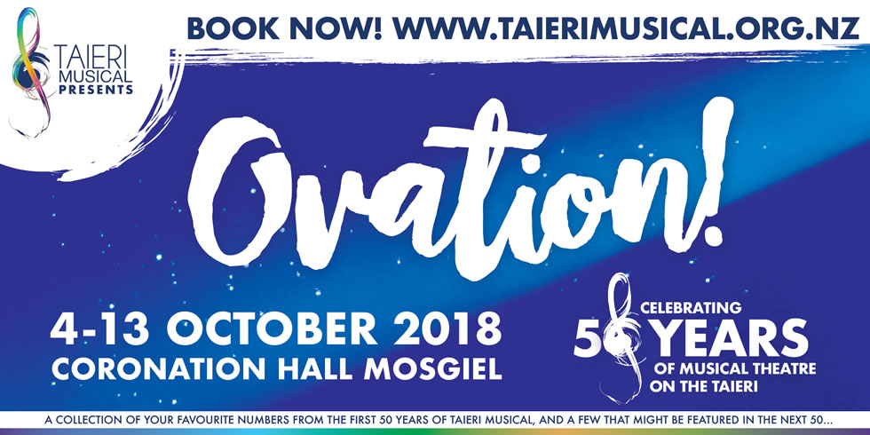 Ovation - Celebrating 50 years of the Taieri Musical Society - On sale now!